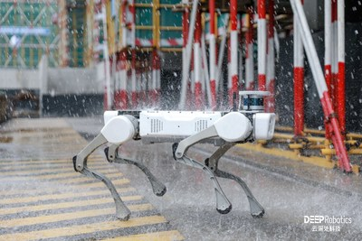 The waterproof(IP66) Jueying X20 can operate in adverse weather conditions