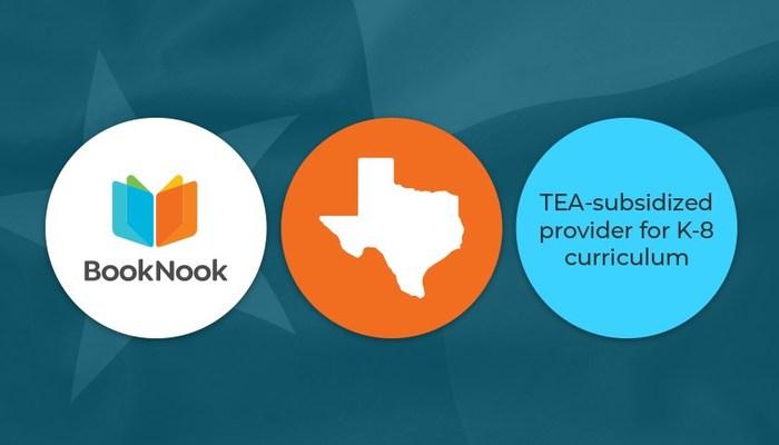 Texas adopta BookNook para la tutoría de lectura de los grados K–8 en todo el estado (PRNewsfoto/BookNook Learning)